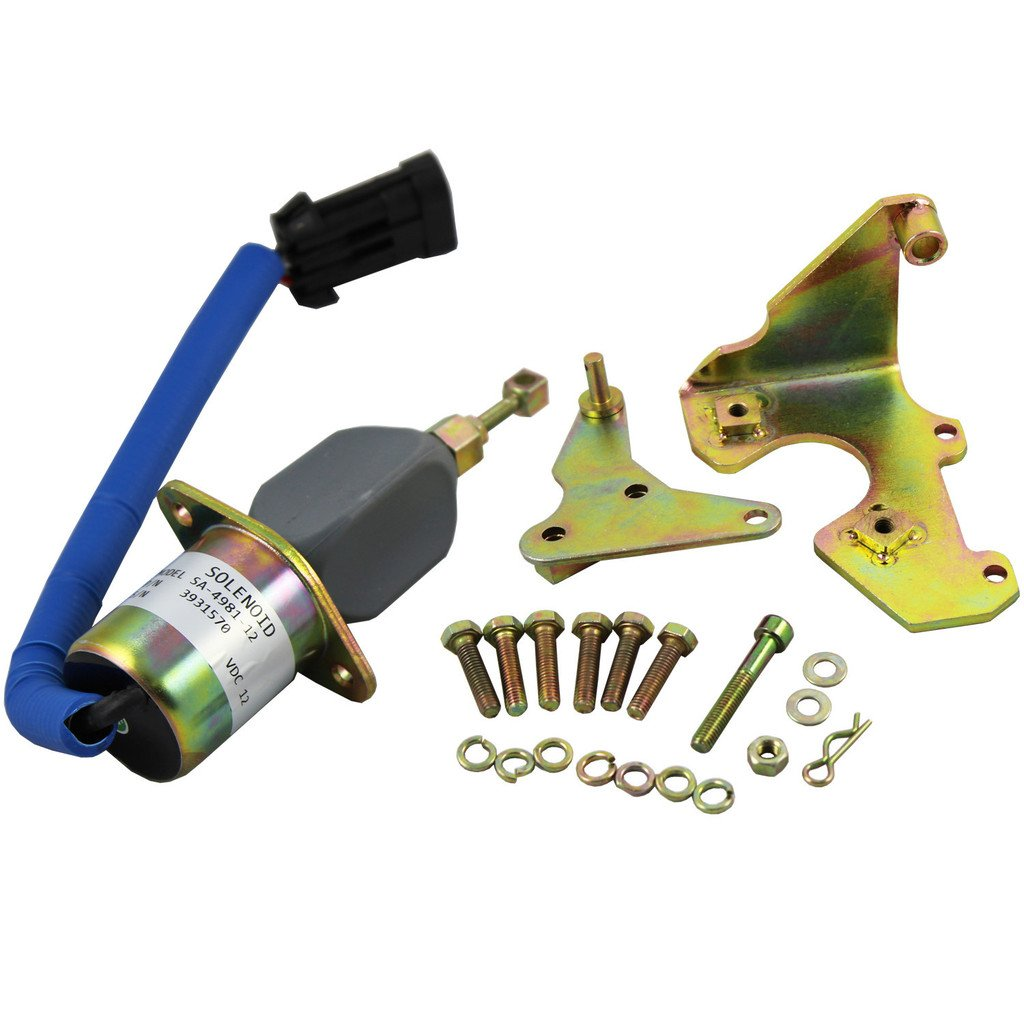 hight resolution of generic new fuel shut off solenoid for 94 98 5 9l dodge diesel cummins with
