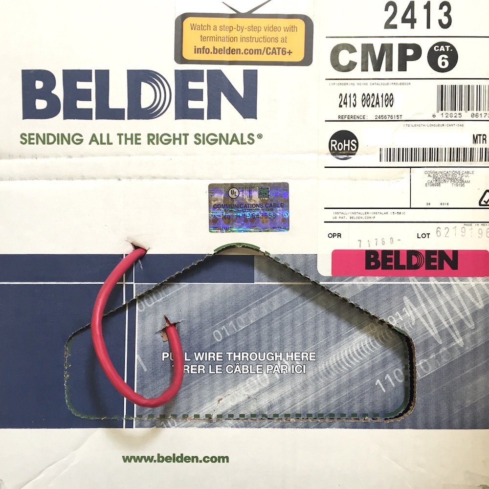 medium resolution of get quotations plenum rated belden 2413 002100 red cat 6 100 feet