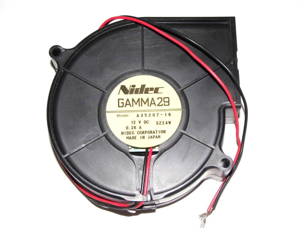 medium resolution of nidec gamma29 9cm a35207 16 12v 0 26a 2wire dc blower fan