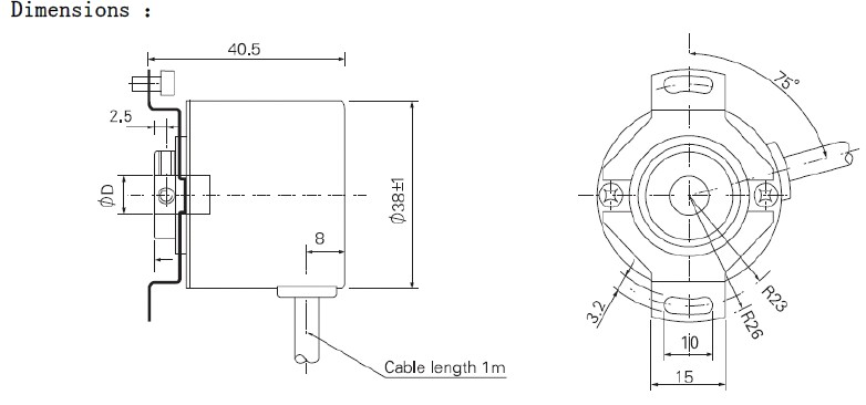 Hollow Shaft Rotary Encoder 8mm Or 12mm Hole Incremental