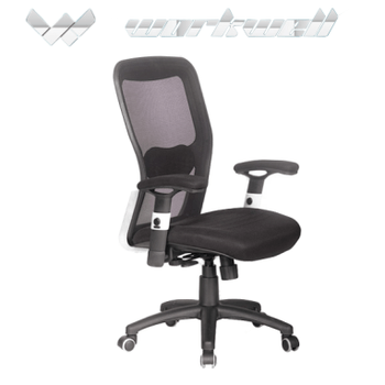 office chair rollerblade wheels living room sets workwell aircondition with and adjustable armrest kw f6019