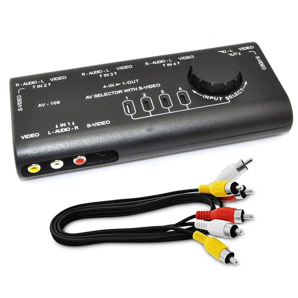 hight resolution of get quotations ablewe rca splitter with 4 way audio av audio video signal switcher video