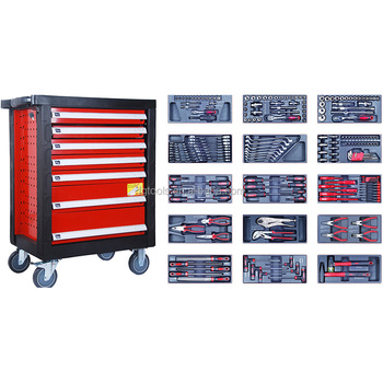 Hot Selling 196pc Roller Cabinet Tool Kit Tool Trolley Kit
