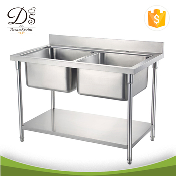 commercial kitchen sink cost of remodel free standing stainless steel double buy product on