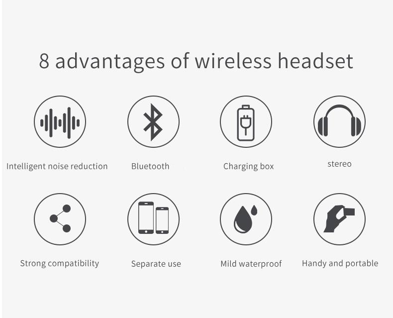 Mini Wireless Tws 5.0 Headphone I9s Tws In Ear Earphone