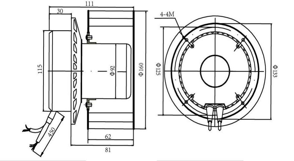 115v 60hz Ec Forward Curved Motorized Impellers Fans 160