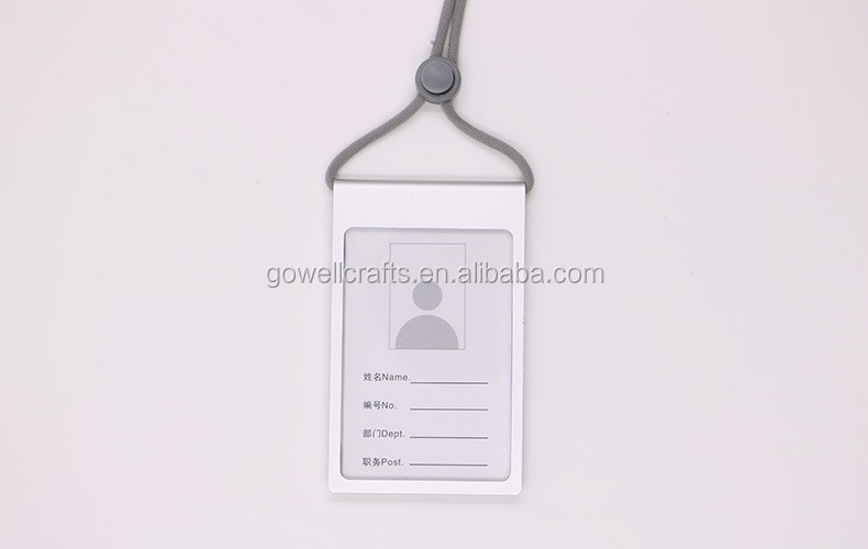 Fancy Aluminium Alloy Metal Apple Employee Id Card Badge
