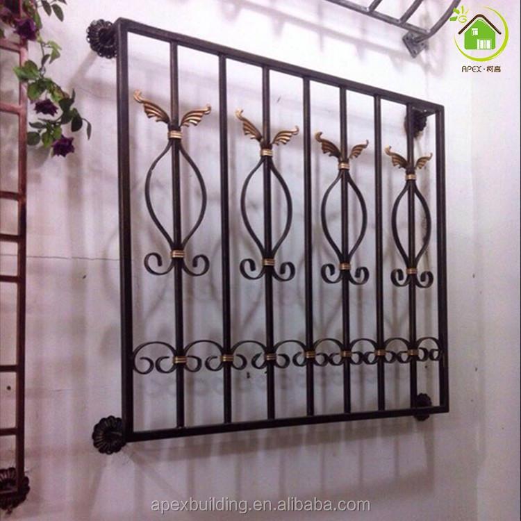 Beautiful Decorative Wrought Iron Windows Grill Design