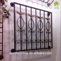Beautiful Decorative Wrought Iron Windows Grill Design