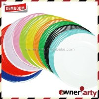 Various Sizes Safety Bulk Paper Plate Solid Color Paper