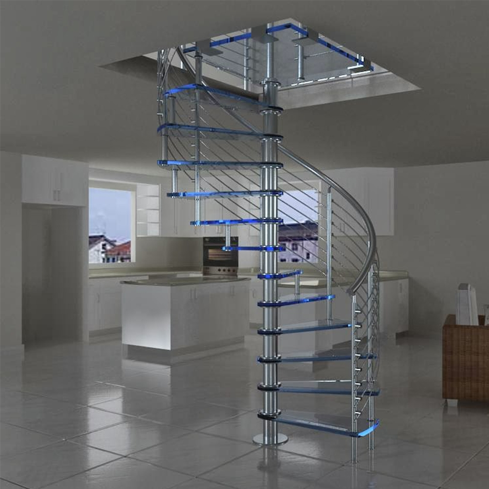 Prefabricated New Design Exterior Stainless Steel Spiral Staircase | Prefabricated Exterior Metal Stairs | Stair Case | Spiral Staircases | Stairways | Stair Systems | Wrought Iron