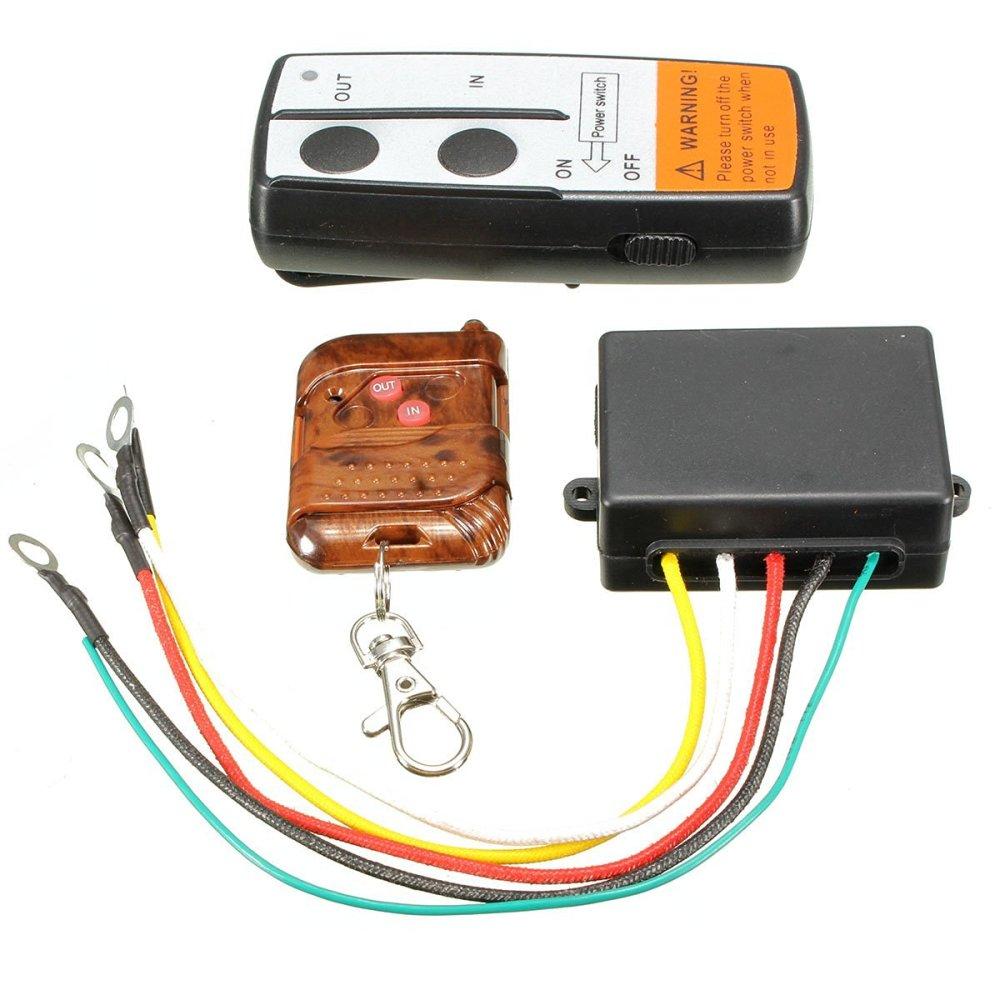 medium resolution of wireless remote control toogoo r electric wireless winch remote control handset 12v heavy