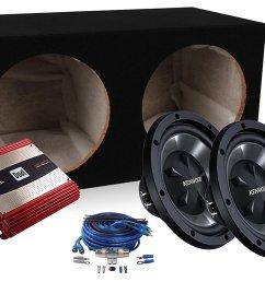 kenwood 1600 watt bass package 2 12 kfc w112s subwoofers with xpa2100 dual amplifier [ 1500 x 1050 Pixel ]