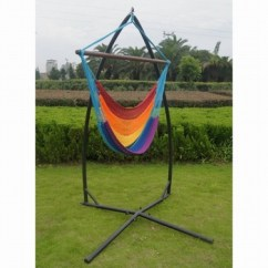 Hammock Chair With Stand Beach Layout Chairs X Fame Metal Caribbean Cheap Hanging Portable Rainbow Color