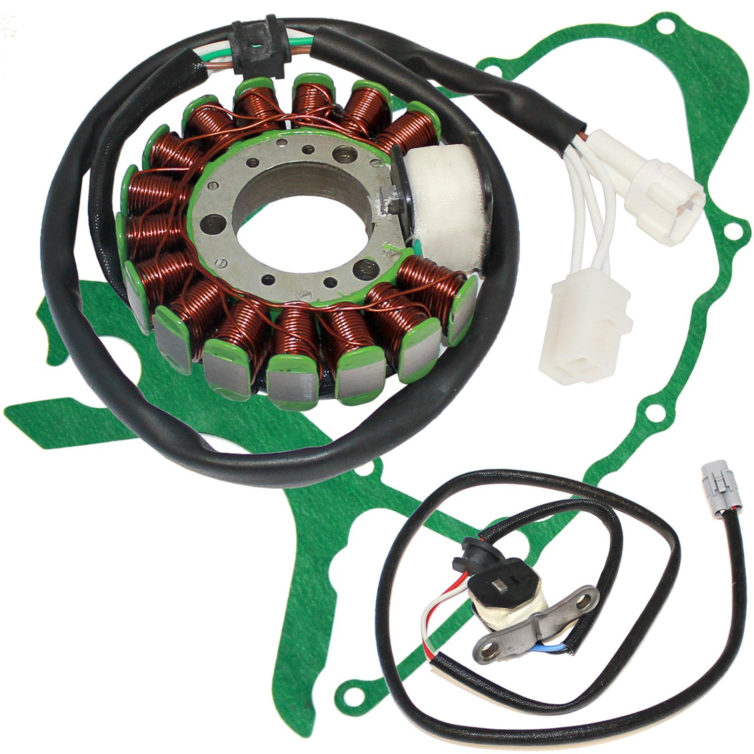 hight resolution of get quotations caltric stator crankcase cover gasket fits yamaha tw200 tw 200 trailway 200 2001