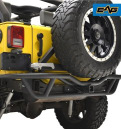 get quotations e autogrilles rear tube bumper with tire carrier for 07 17 jeep wrangler jk [ 1500 x 1500 Pixel ]