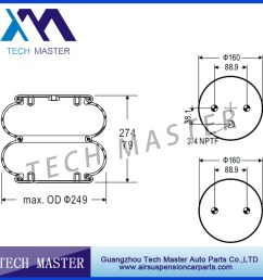 double air spring air bellow air bag contitech fd200 19 319 firestone w01 358 6900 [ 900 x 900 Pixel ]