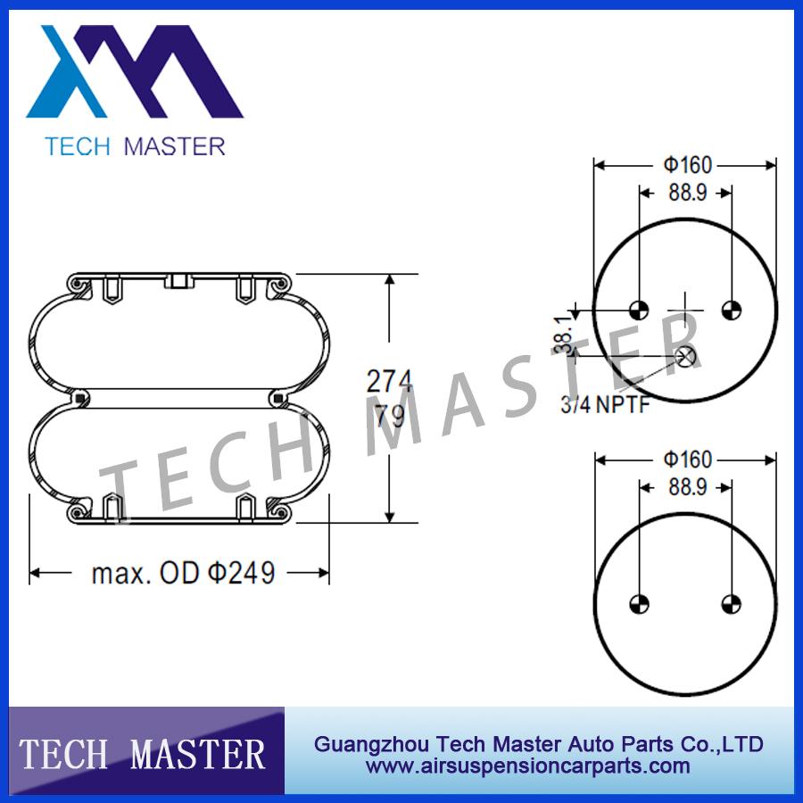 medium resolution of double air spring air bellow air bag contitech fd200 19 319 firestone w01 358 6900