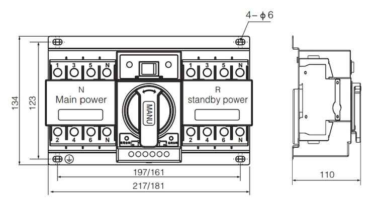 Automatic Transfer Switch In Circuit Breaker For