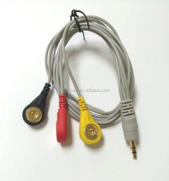 3 5mm mini stereo jack to medical snap cable for ecg devices [ 1000 x 1001 Pixel ]