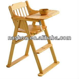 Nueva plegable beb de madera silla altaSillitas para bebesIdentificacin del producto701579178spanishalibabacom