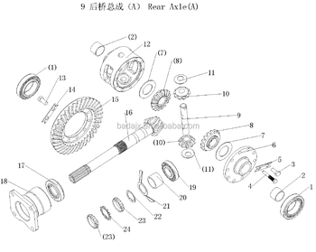 Rear Axle Parts & Supply Dongfeng Df244 Tractor Parts