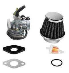 soosee atv carburetor pz19 with fuel filter and 35mm air filter for 50cc 70cc 90cc 110cc [ 1500 x 1500 Pixel ]