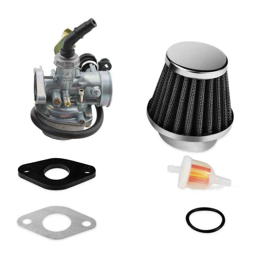 medium resolution of soosee atv carburetor pz19 with fuel filter and 35mm air filter for 50cc 70cc 90cc 110cc