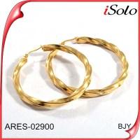 Earrings Saudi Gold Jewelry Self Piercing Hoop Earrings ...