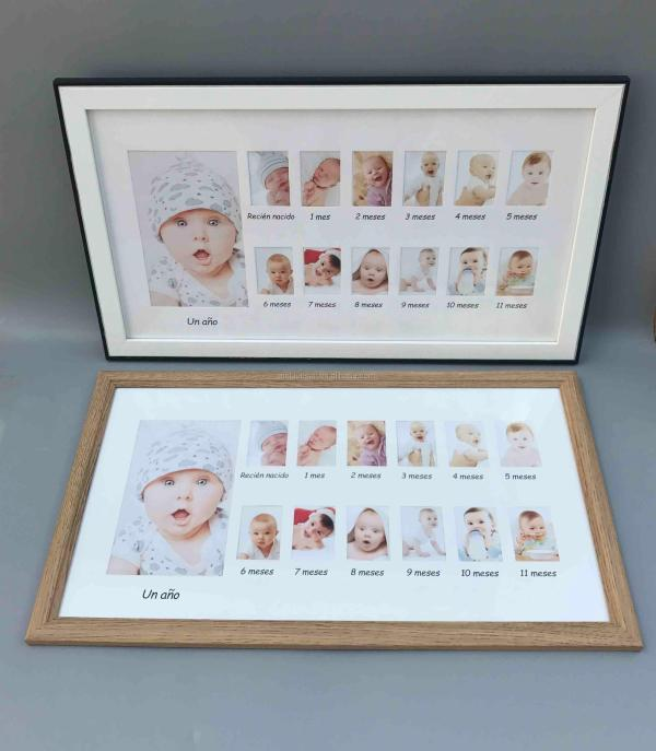 Baby 12 Month Frame Year Record 25x45cm Mat View