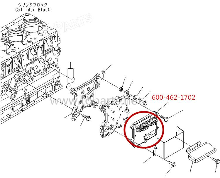 600-462-1702 D155ax-6 Bulldozer Controller For Komatsu