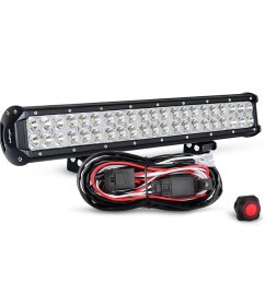 get quotations nilight zh006 20 126w spot flood combo led light bar work light off [ 1001 x 1001 Pixel ]