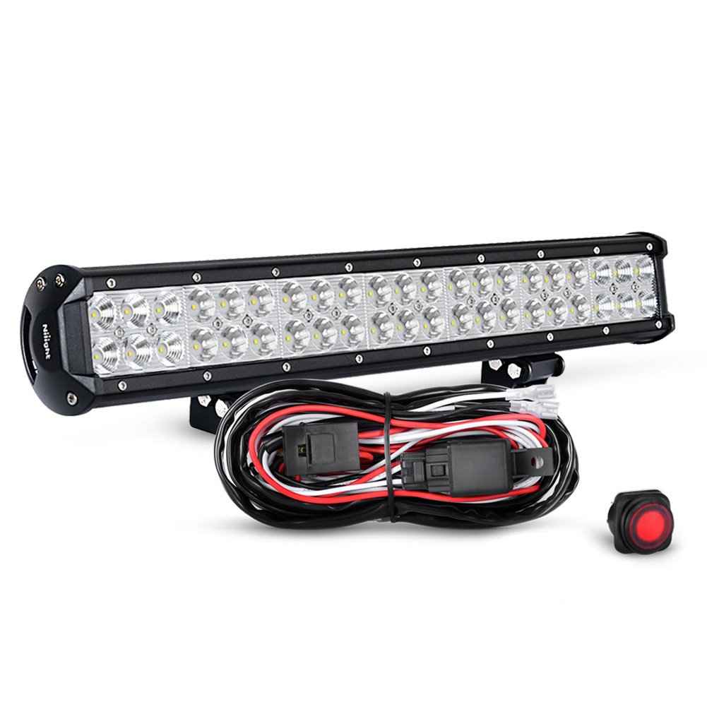 hight resolution of get quotations nilight zh006 20 126w spot flood combo led light bar work light off