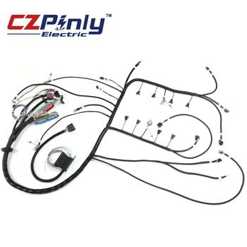 Oem Black Automotive Electronic Fuel Injection Wiring