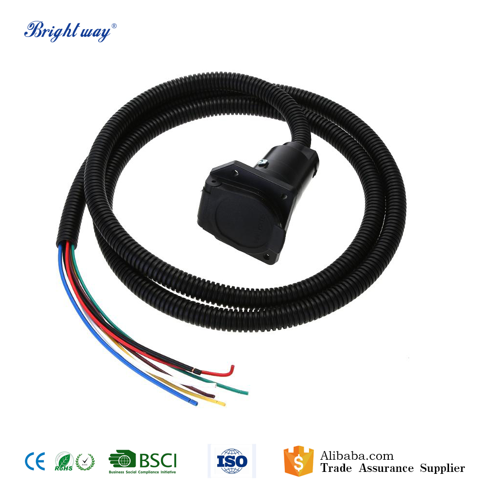 medium resolution of 6 6ft trailer wiring harness kit with 7pin connector plug