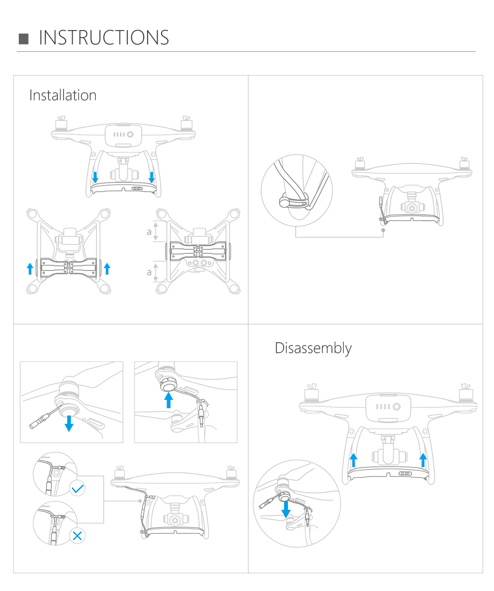 Pgytech Dji Drone Remote Delivery Parabolic Air-dropping