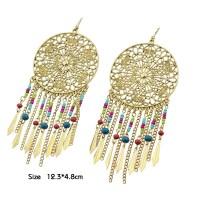 Indian Design Colorful Beads Big Chandelier Earrings - Buy ...