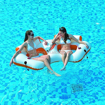 inflatable water chairs for adults gray folding swimming pool double chair adult sofa toys buy