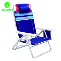 Lay Down Beach Chairs Video Gaming Chair Can Lie Fabric Reclining Folding With Side Storage Bag