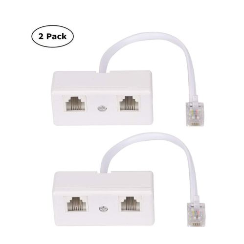 small resolution of get quotations telephone splitter rj11 6p4c 1 male to 2 female adapter 2 way landline telephone