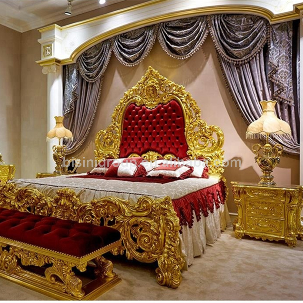 italian royal baroque style hand carved gold plated red bedroom set luxury design romantic wedding bed bf11 y10005r buy royal palace imperial