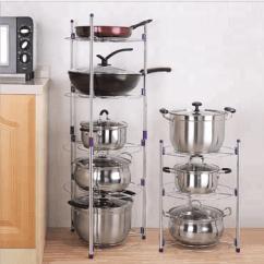 Kitchen Pot Rack Kohler Undermount Sinks 2018 New Arrival Pans And Pots Lids Holder Detachable Cabinet Organizer Stand