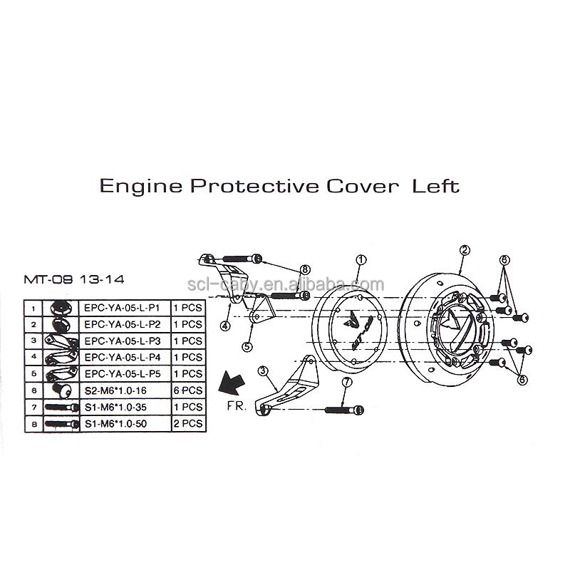 Motorrad-zubehör CNC Aluminium Tracer Motor Schutzfolie