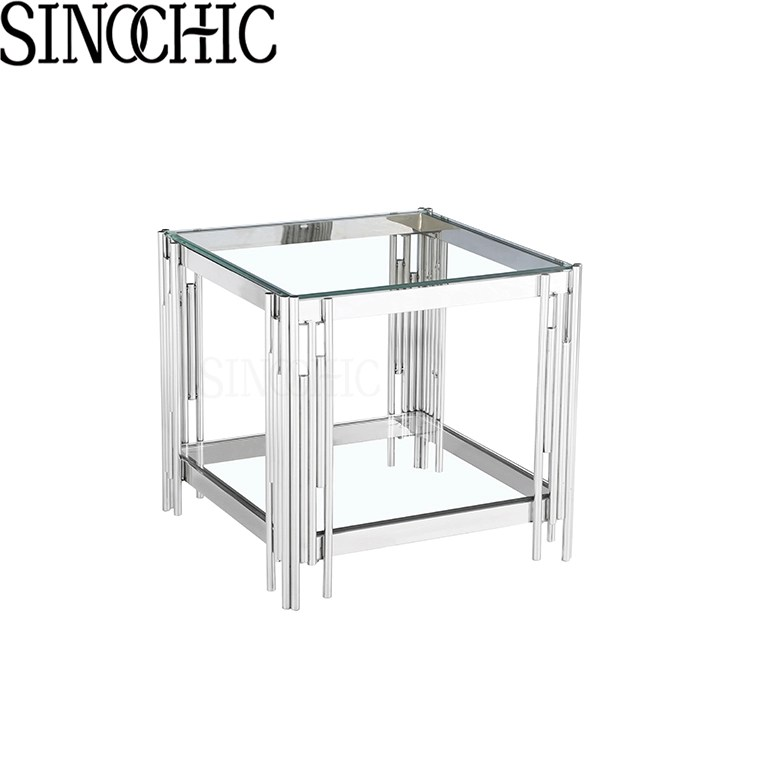 modern style glass top high quality coffee table small side table buy contemporary coffee tables square glass coffee table small side table product