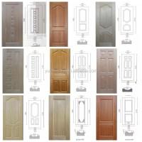 White Primer Door Skin With Wood Grain Moulded Door Skin ...