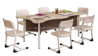 Modern library furniture children study chairs tables ...