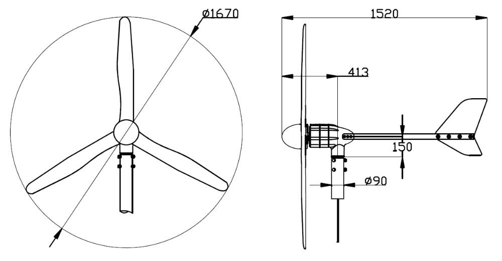 S800 24 V China Hot Kleine Wind Generator Voor Woningen