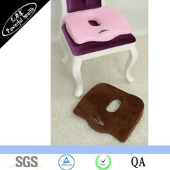 Office Chair Ergonomic Cushion Fuzzy White Sciatica Pillow For Driving And Desk Seat Back Pad