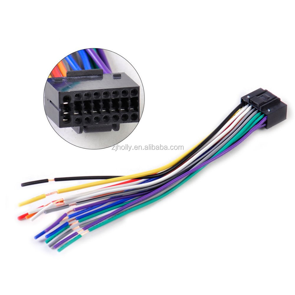 hight resolution of car radio stereo wire harness cd plug cable 16 pin connector fit for kenwood 16 pin wiring harness diagram 16 pin wire harness