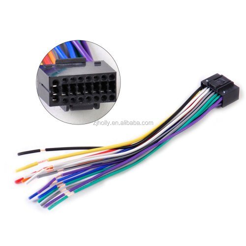 small resolution of car radio stereo wire harness cd plug cable 16 pin connector fit for kenwood 16 pin wiring harness diagram 16 pin wire harness